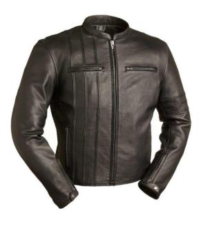 Mens Leather Motorcycle Jacket