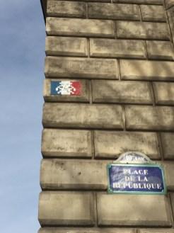 Street Art Place de la République à Paris