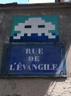 Mosaïque réalisée par le Street Artiste situé rue de l'évangile quartier de la Chapelle à Paris