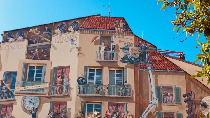 Cannes : des fresques murales monumentales en hommage au Cinéma !