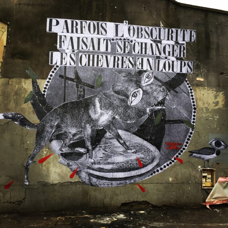 oeuvre de Madame Moustache - Street Art Français