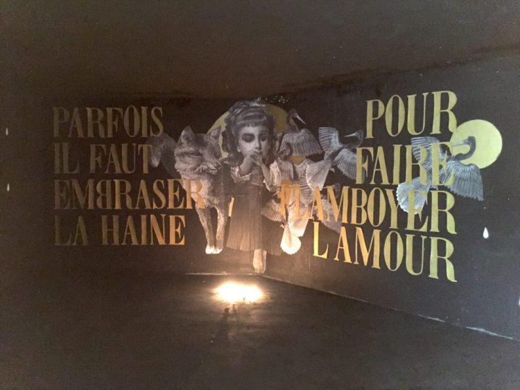oeuvre de l'artiste Française de Street Art Madame Moustache