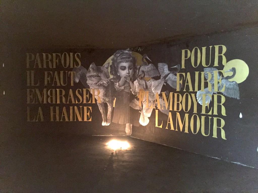 oeuvre de l'artiste Française de Street Art Madame pour l'exposition Capucines des Arts