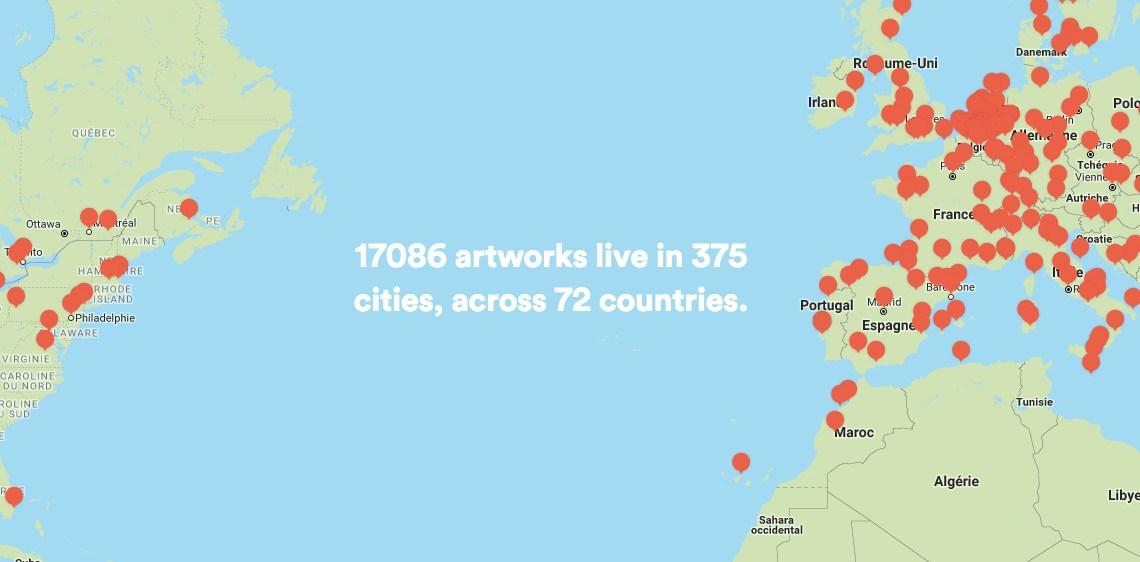 Tout savoir sur Street Art Cities : l'App qui géolocalise l'Art Urbain !