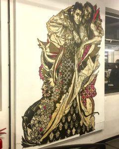Oeuvre de SWOON au musée ART42 - Art Urbain