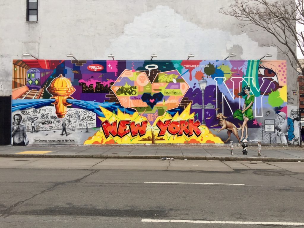 Houston Bowery Mural par TATS CRU
