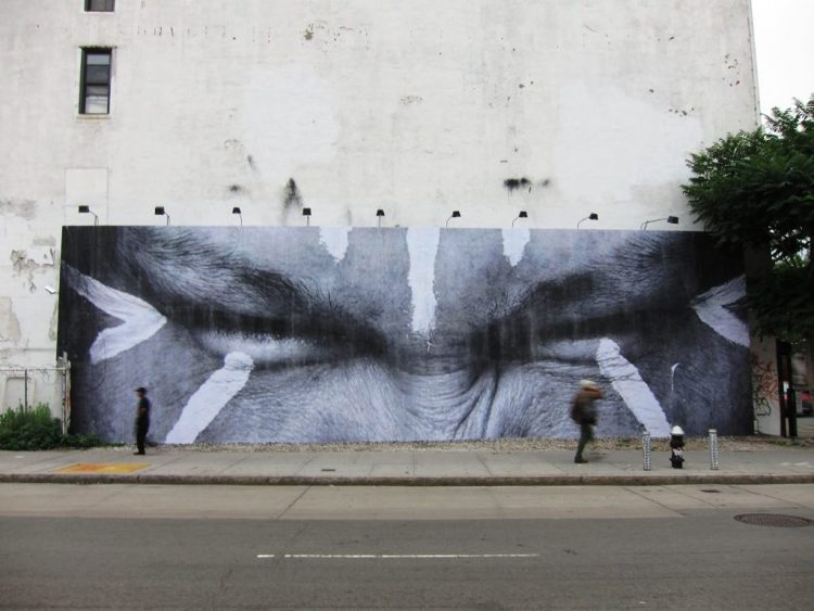 Houston Bowery Wall par JR