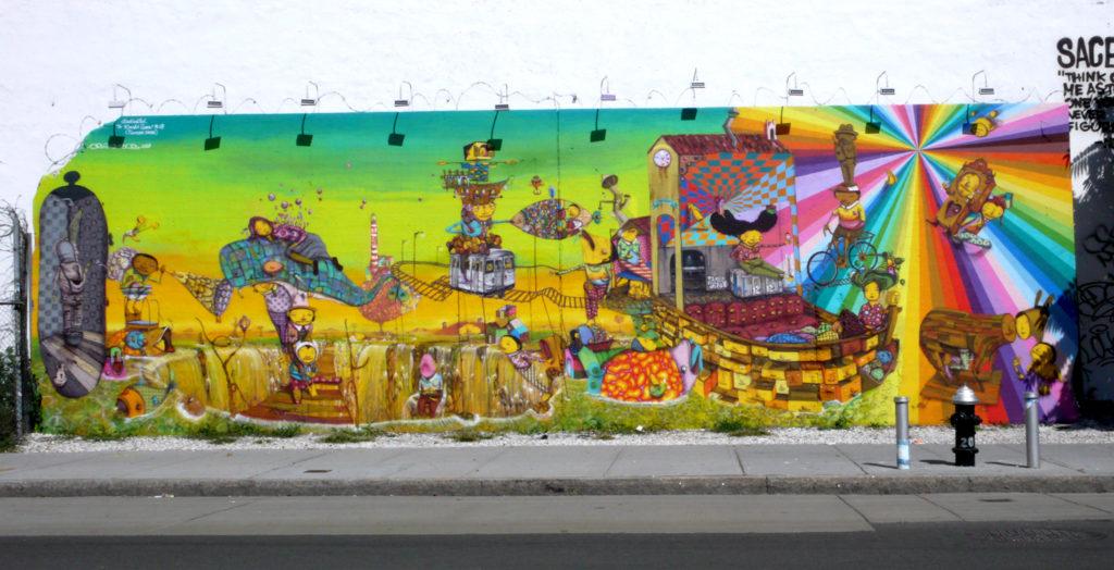 Houston Bowery Wall par Os Gêmeos