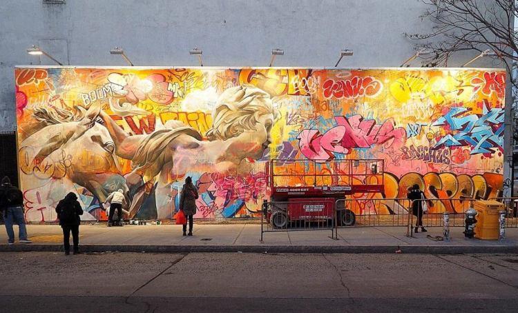 Houston Bowery Wall - Pichi & Avo projet en cours