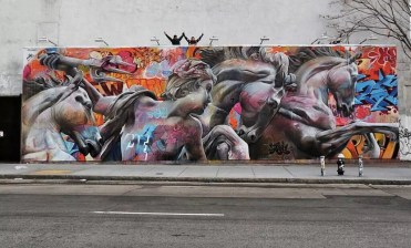 Houston Bowery Wall par Pichi & Avo