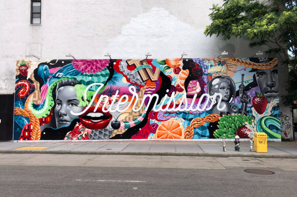 Houston Bowery Wall par Tristan Eaton