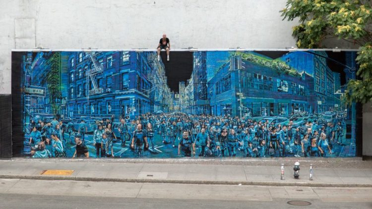 Houston Bowery Wall par Logan Hicks