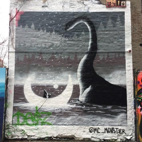 Monstre du Loch Ness par MC Monster - Street Art New York - First Street Green Art PArk