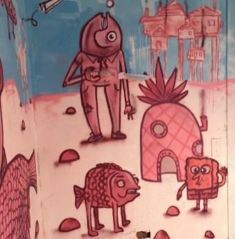 Chambre de l'hotel 128 de Street Art City réalisée par l'artiste Kid Crayon de Bristol