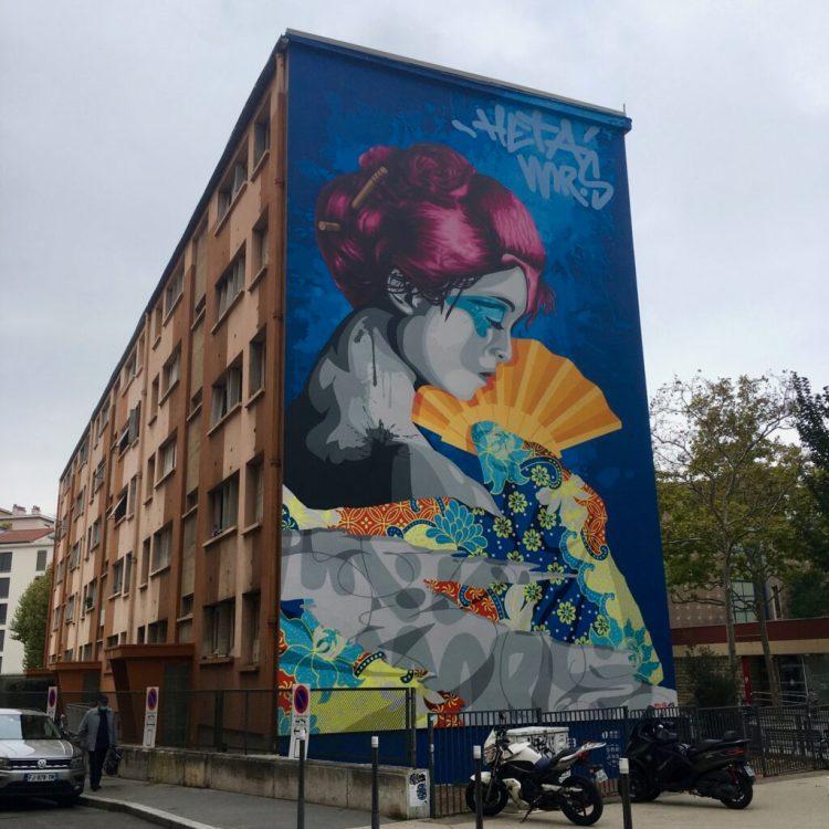 Street Artistes Monsieur S et Heta - Place des Tapis à Lyon Croix-Rousse