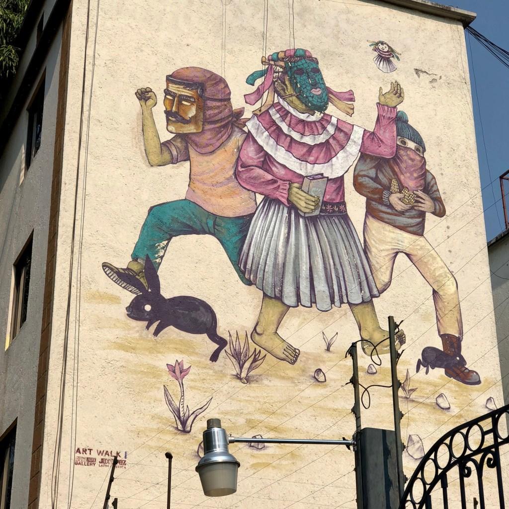 Muralism Mexico City par Edgar Staner - Roma Norte