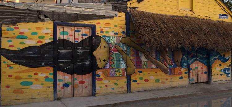 duo amoureux - love duo - street art Holbox artiste Ekza One