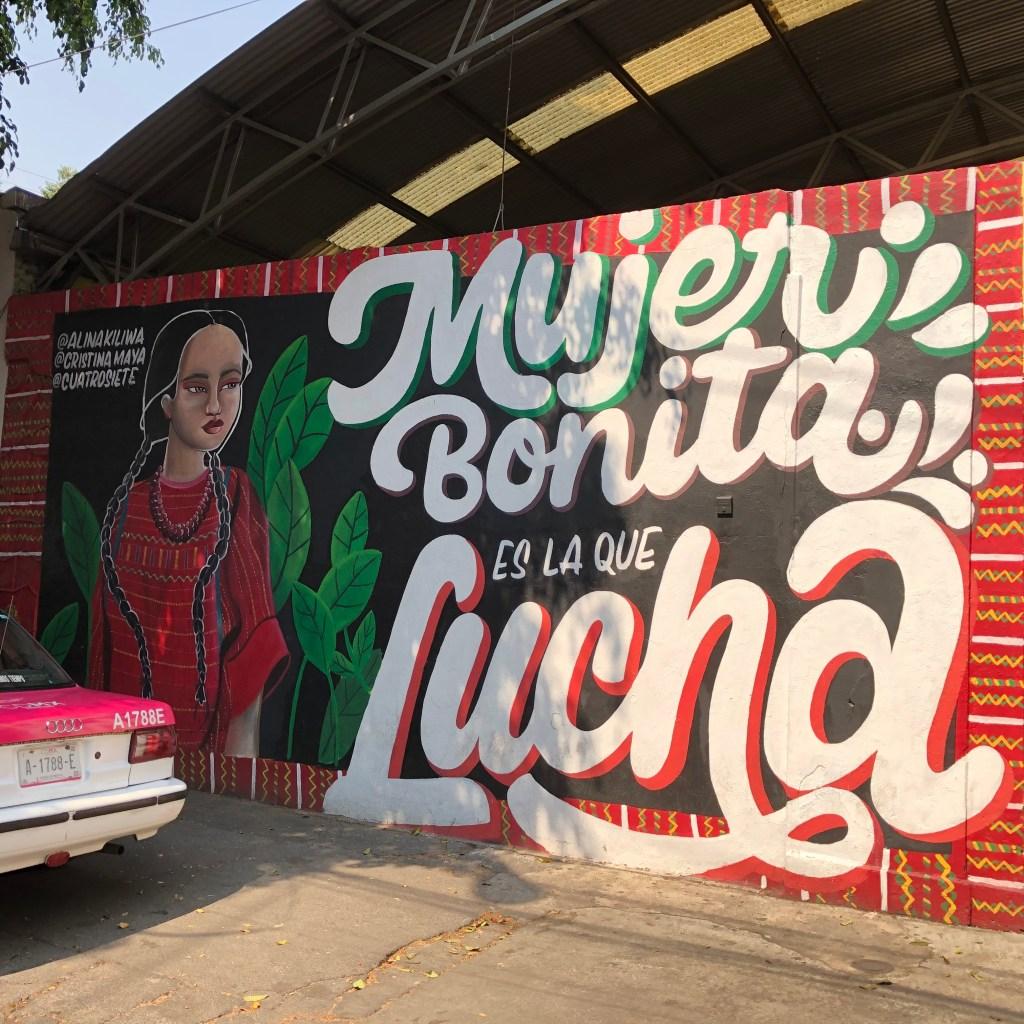 Fresque murale pour en honneur aux femmes à Mexico City