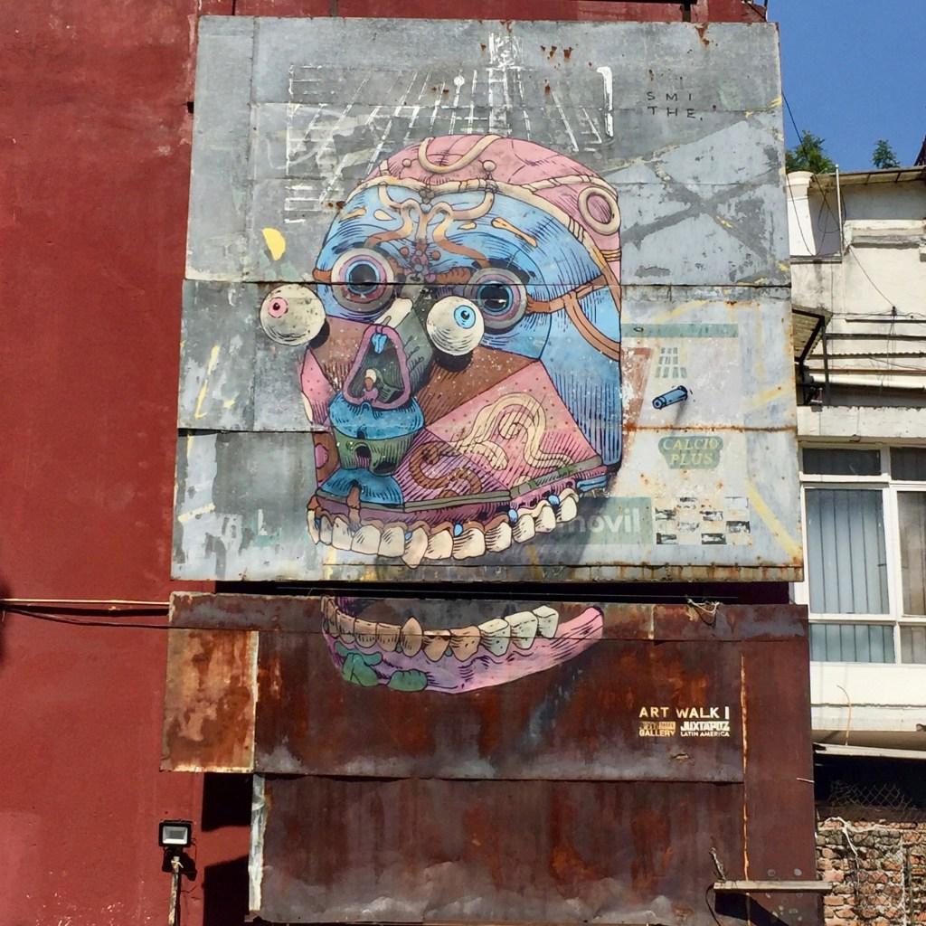 Fresque réalisée par Smitheone à Mexico City