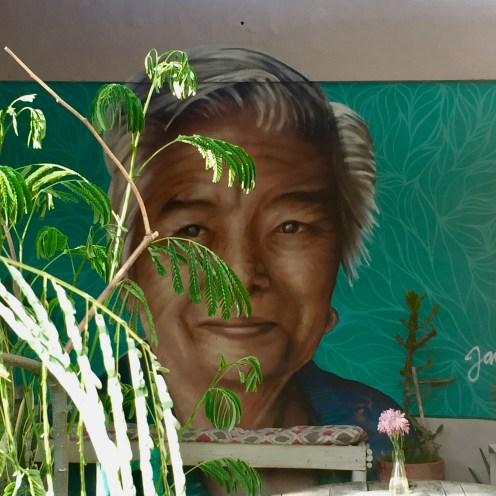portrait street art Holbox restaurant painapol