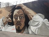 Street Art Paris :fresque murale inspirée du Désespéré de Gustave Courbet réalisée par le street artist Français PBOY