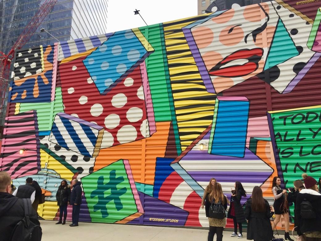 Fresque murale réalisée par Todd Gray Studios - Wolrd Trade Center - Ground Zero - Street Art NYC - Photo prise par le blog Street Art Altinnov