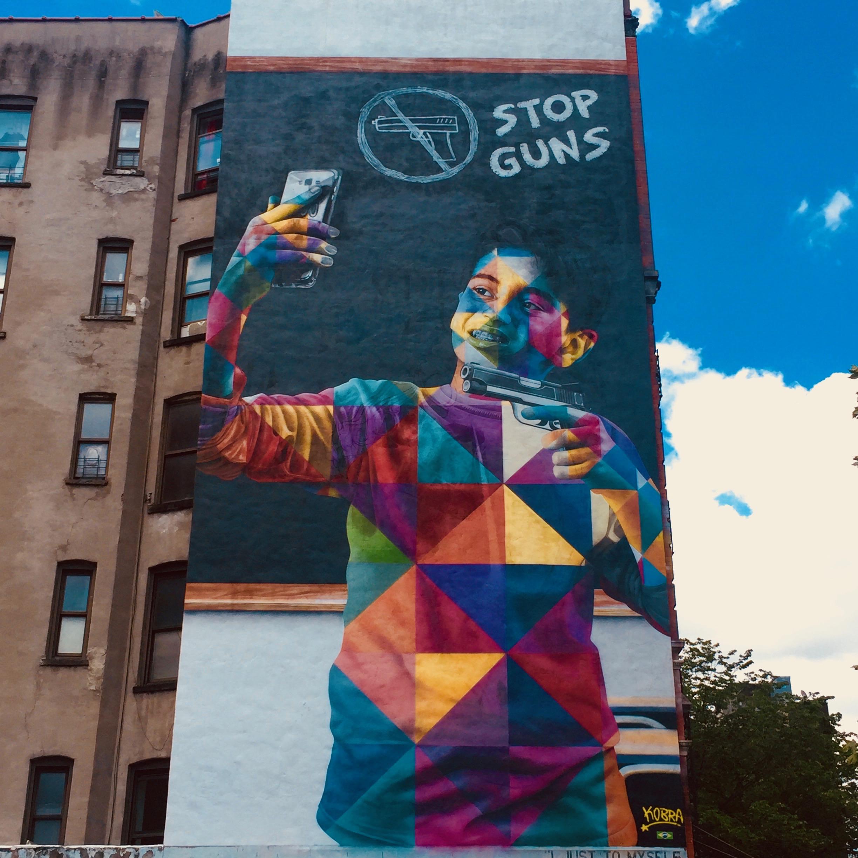 Fresque Murale Stop Guns - Eduardo Kobra - Street Art - New York - Copyright: @Altinnov