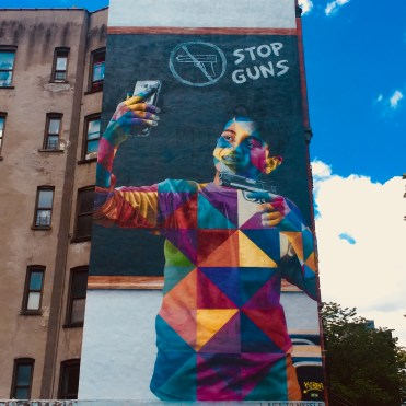 Fresque Murale Stop Guns - Eduardo Kobra - Street Art - New York - Copyright: @Altinnov