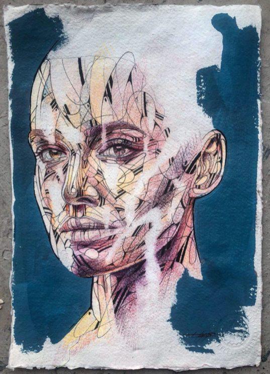 Coronavirus - oeuvre originale du street artiste HOPARE - Projet SAATO - Donation APHP - Coronavirus