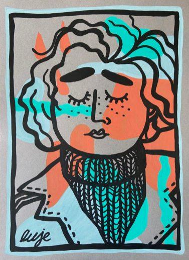 Street Artiste LUJE-Oeuvre Pojet SAATO- Donation APHP - Coronavirus