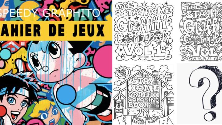 CONFINEMENT : Les Street Artistes offrent coloriages et cahiers de jeux de 7 à 77 ans !