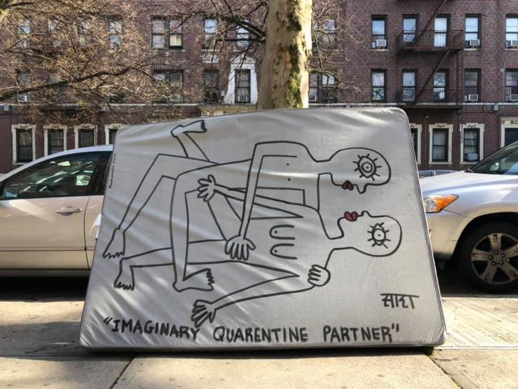 Imaginary Quarentine Partner - Sara Erenthal - Street Art NYC - Brooklyn