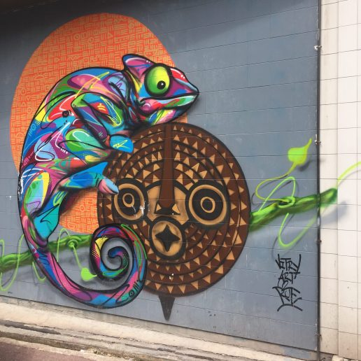 Caméléon par l'artiste Sitou_Street Art Vitry-sur-seine
