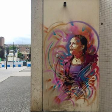 Street Art à Vitry-sur-Seine : Christine Taubira par Christian Guémy alias C215 - Copyright @Altinnov