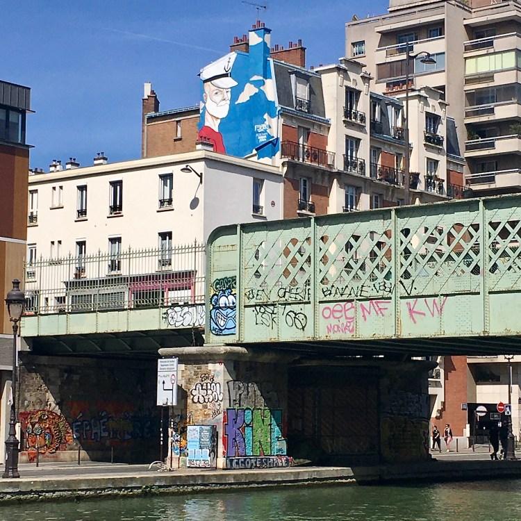 Marin de Raphael Federici - Street Art Canal de l'ourcq