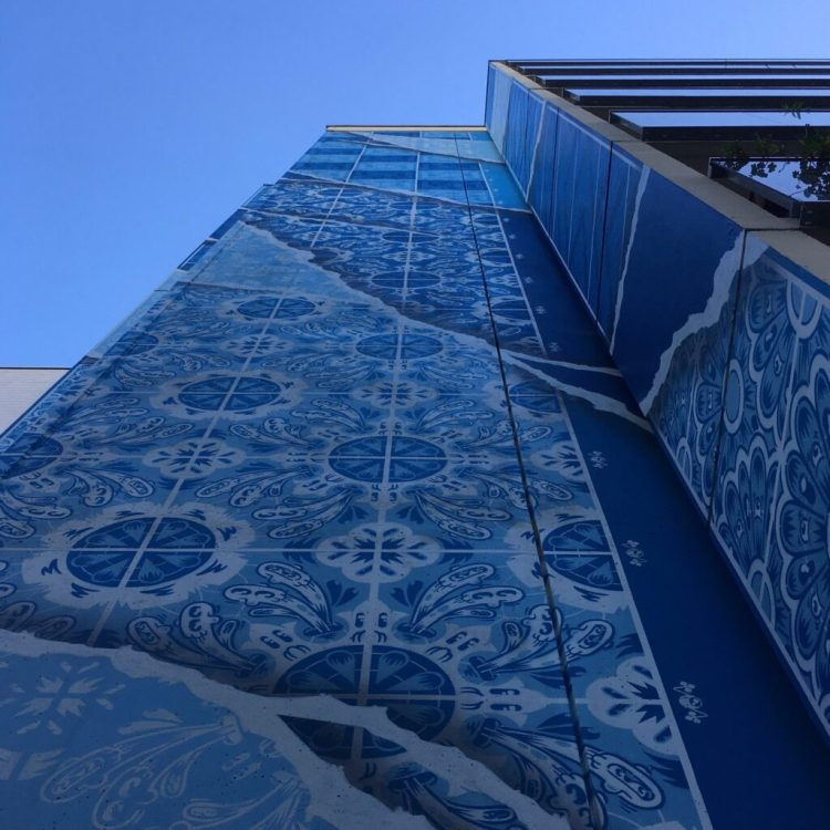 Boulevard Paris 13 Musée du Street Art à Ciel ouvert - Fresque de Add Fuel - Azulejos - Involvente