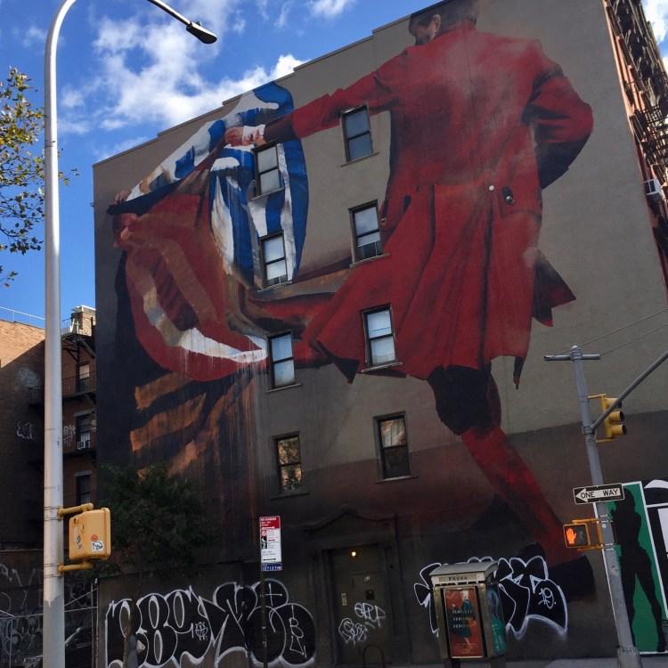 Oeuvre de Conor Harrington pour The Lisa Project NYC située dans le quartier de Bowery à New York