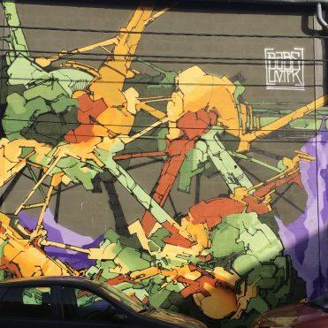 néo-graffiti par BABS à Aubervilliers