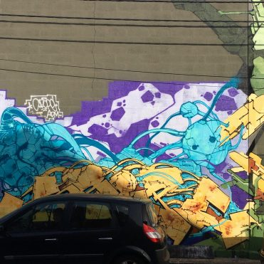 graffiti cyber par BABS à Aubervilliers