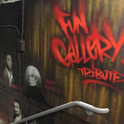 Tribute to the Fun Gallery create by Patty Astor, first gallery introducing graffiti in 1981