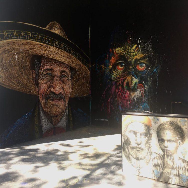 Fresques murales réalisées par les Street Artistes Rast & Sax devant la galerie le Lavo::Matik à Paris