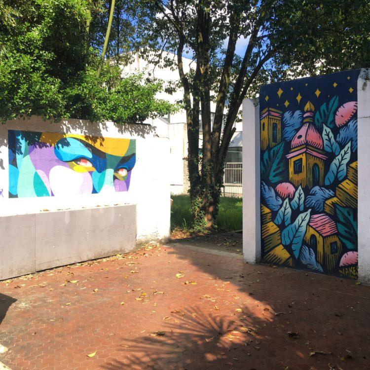 Le Patio d'Eyrose à Dax - Street Art par Alber & Yakes