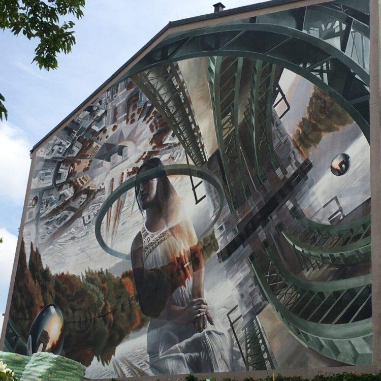 Street Art Chatou - fresque réalisée par l'artiste Turinois Vesod - En route vers l'Étoile