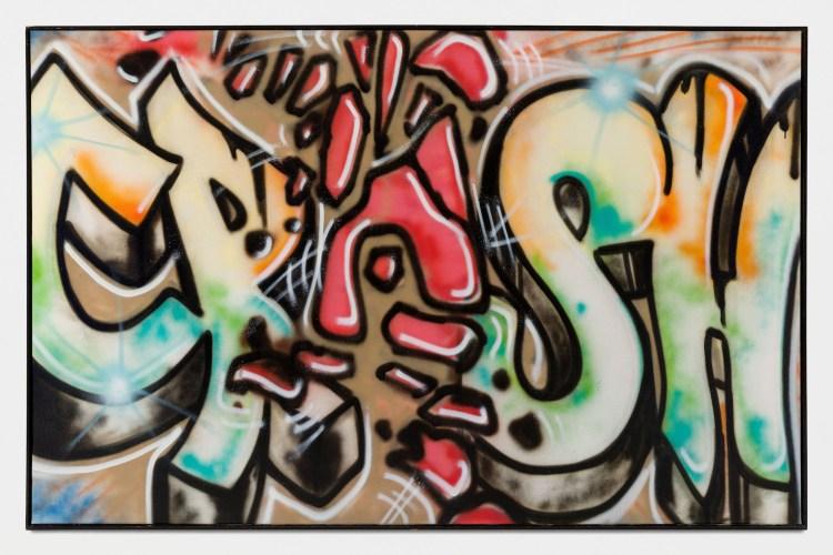 Blaze de John Matos aka CRASH, légende du Street Art Américain exposé à la Ghost Galerie Paris