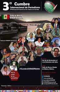 CONAPE te invita a la Tercera Cumbre Internacional de Periodismo #CumbreCONAPE2016 VERTICAL