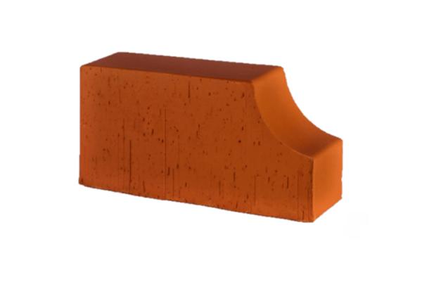 Фигурный клинкерный кирпич полнотелый Lode Janka F13