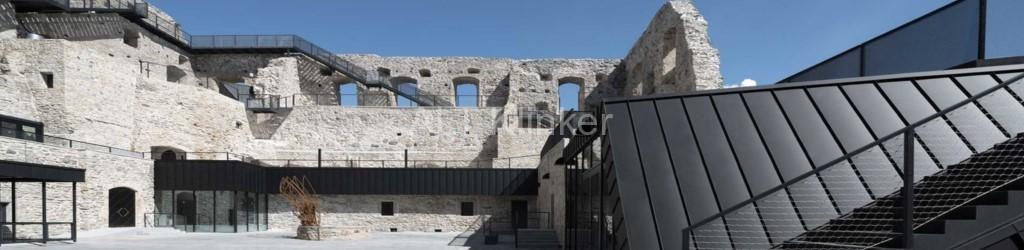 RHEINZINK-GRANUM Basalte чёрный цвет замок Haapsalu Эстония KAOS Arhitektid OÜ