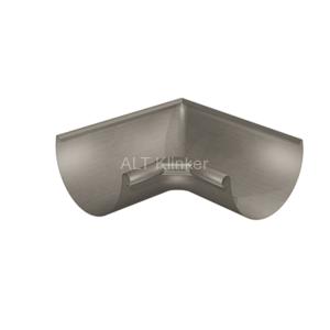 Угол водосточного желоба полукруглый 90°, внутренний, цельнотянутый цинк-титан RHEINZINK-prePATINA schiefergrau (тёмно-серый)