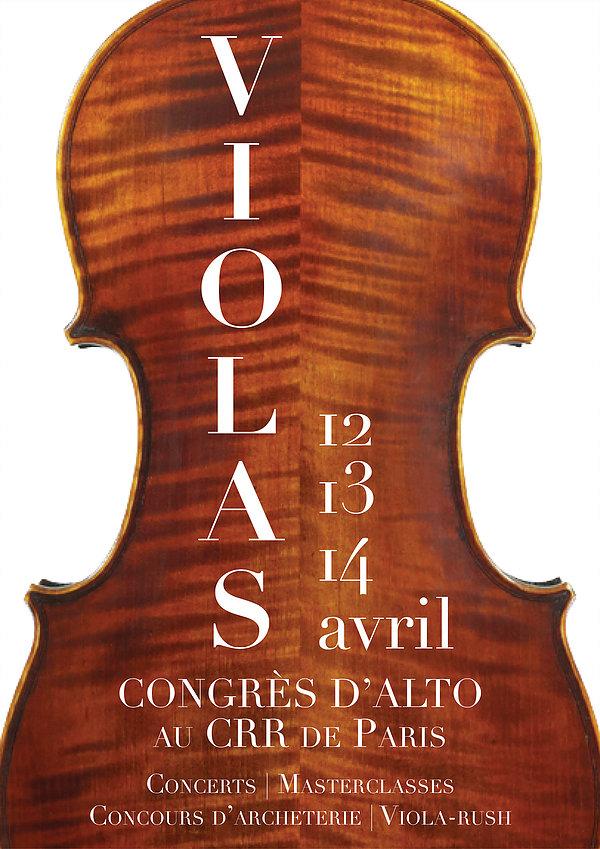affiche du congrés viiolas 2019 représentant un alto