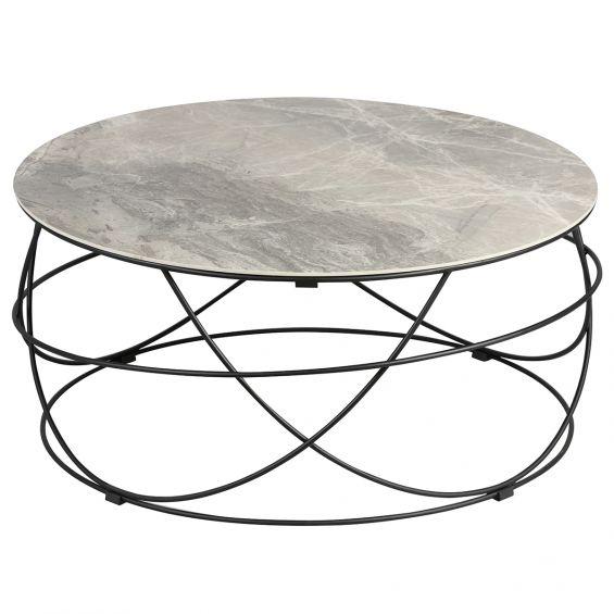 cathleen table basse ronde plateau ceramique